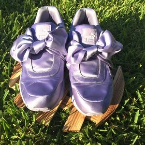 Fenty Lavender Puma Bow Shoes by Rihanna